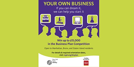 New York StartUP! 2022 Business Plan Competition Orientation tickets
