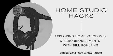 Home  Studio Hacks: Exploring Home Voiceover Studio Requirements tickets