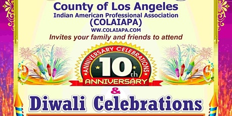 County of Los Angeles - 10th Anniversary and Diwali Party !! tickets