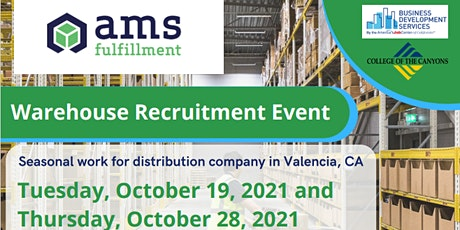 AMS Warehouse Recruitment tickets