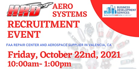 HRD Aero Systems Recruitment Event tickets