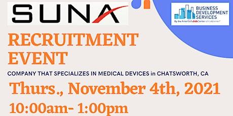 SUNA Recruitment Event tickets