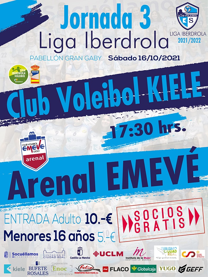 Imagen de J03 Liga Iberdrola Voleibol Femenino: CV KIELE vs ARENAL EMEVE