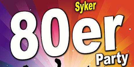 Syker 80er Party am Samstag, 30.10.2021 : Jetzt Tickets sichern. tickets
