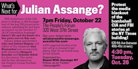 What's Next for Julian Assange tickets