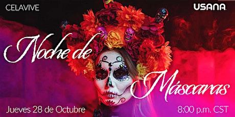 ¡Noche de Máscaras CELAVIVE! boletos
