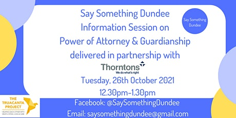 Planning Ahead - Power of Attorney & Guardianship tickets