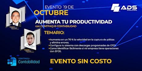 Evento Gratuito: Aumenta tu productividad con CONTPAQi® Contabilidad entradas