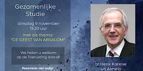 Gezamenlijke Studie Dinsdag 9 November tickets