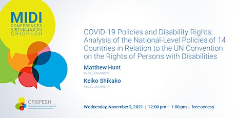 Lunch-&-Learn | COVID-19 Policies and Disability Rights tickets