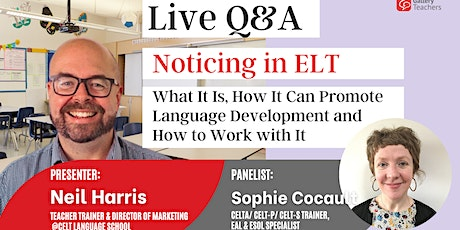 Noticing in ELT: What It Is,  How It Can Promote Language Development and H tickets