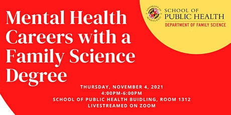 Mental Health Careers with a Family Science Degree tickets