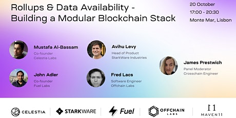Rollups and Data Availability - Building a Modular Blockchain Stack tickets