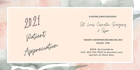 2021- Virtual Patient Appreciation tickets