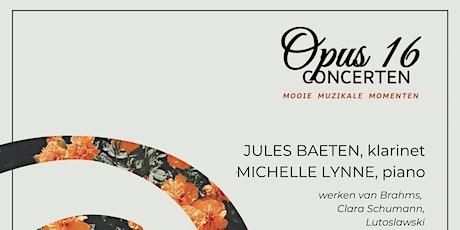 Opus 16 Concerten: Clarinet Duo met Jules Baeten en Michelle Lynne tickets
