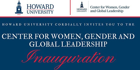 Center for Women, Gender and Global Leadership Inauguration tickets