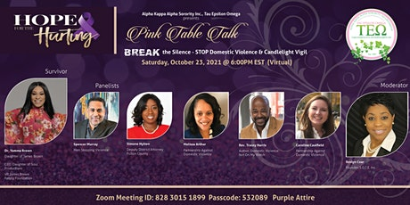 Pink Table Talk: Domestic Violence Awareness & Candlelight Vigil tickets