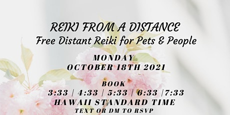 Reiki From A Distance for you and your pet! tickets