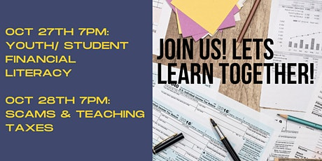 CRA Info Sessions: Youth/ Student Financial Literacy and Teaching Taxes tickets