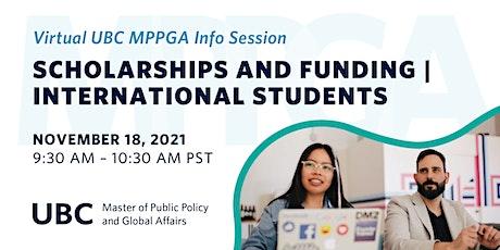 UBC MPPGA Info Session: Scholarships, Funding, International Students tickets