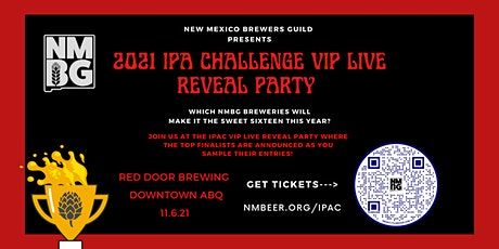 IPA CHALLENGE VIP LIVE REVEAL FINALISTS PARTY tickets