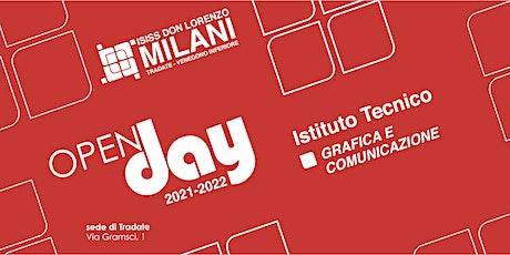 Open Day 2021/22 - Grafica e Comunicazione biglietti