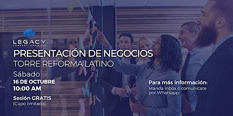 Proyecto Empresarial Legacy CB,  16 de Octubre (Sesión 10:00 AM) entradas