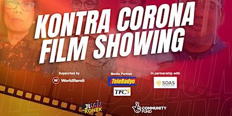 Kontra Corona film showing tickets