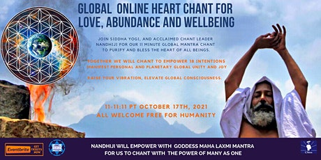 Global  Online Heart Chant for Love, Abundance and Wellbeing. tickets