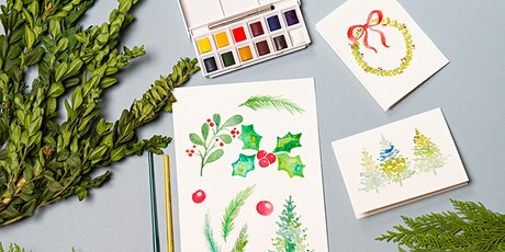 Watercolor Cards: Holiday Botanicals tickets