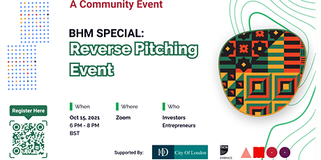 BHM Special: Reverse Pitching Event tickets