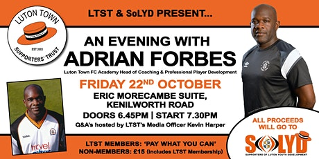 SOLYD Presents: An Evening with Adrian Forbes tickets