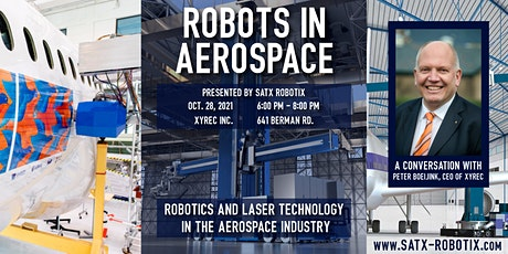 Robots in Aerospace: Robotics & Laser Technology in the Aerospace Industry tickets