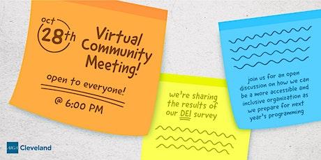 October Community Meeting tickets