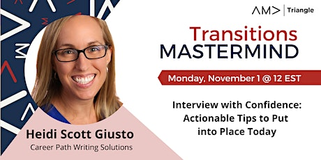 Interview with Confidence: Actionable Tips to Put into Place Today tickets