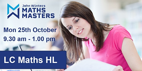 October Midterm Revision Course  Maths LC (Higher Level) tickets