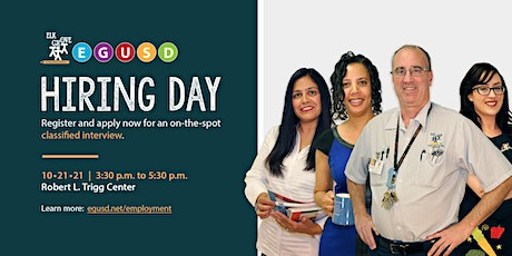 October 21, 2021: EGUSD Classified Hiring Day tickets