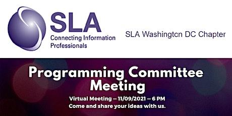 DC SLA Programming Committee Meeting tickets