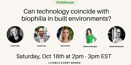Can technology coincide with biophilia in built environments? tickets