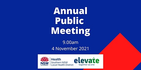 Annual Public Meeting (online) tickets