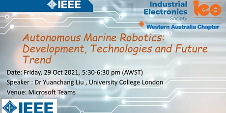 Autonomous Marine Robotics: Development, Technologies, and Future Trend tickets