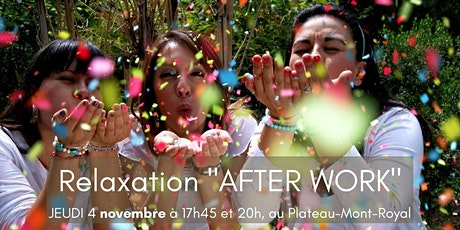 """Relaxation """"AFTER WORK"""" tickets"""