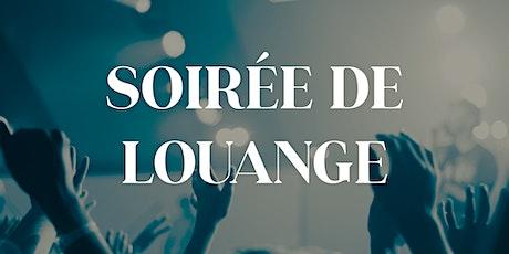 SOIREE DE LOUANGE du 13 novembre à 19h billets