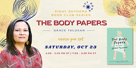 Filipina Authors Book Club: The Body Papers by Grace Talusan tickets