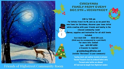 Bambi Winter Scene Family Paint Event tickets