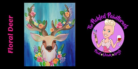 Painting Class - Floral Deer - October 21, 2021 tickets