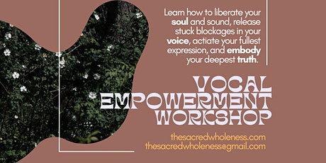 Vocal Empowerment workshop PORTLAND tickets