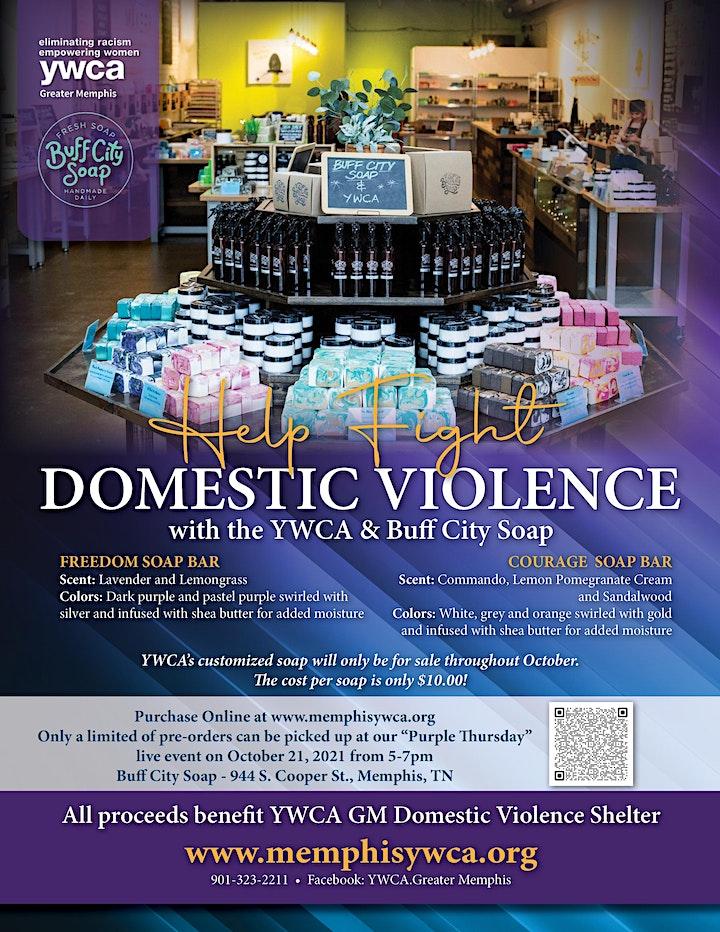 YWCA GM + Buff City Soap Domestic Violence Fundraiser image