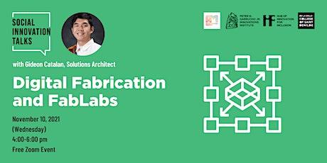 Social Innovation Talks: Digital Fabrication and FabLabs tickets
