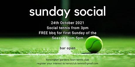 FREE!  Sunday Social Tennis tickets